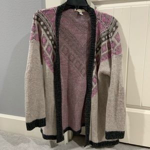 LAVENDER AND GREY TRIBAL CARDIGAN